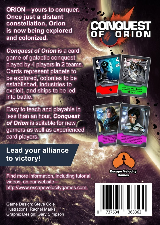 Conquest of Orion Back